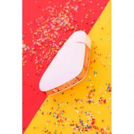 Вакуум-волновой бесконтактный стимулятор клитора Satisfyer Love Triangle, силикон, белый, 8,8 см.