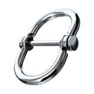 Наручники в форме восьмерки  маленькие, TOYFA Metal,серебр.