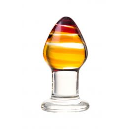 Анальная втулка Sexus Glass, Стекло, Прозрачный, 9 см