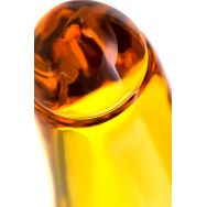 Нереалистичный фаллоимитатор Sexus Glass, Стекло, Желтый, 17 см