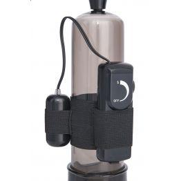Помпа для пениса Sexus Men Training, вакуумная, механическая, с вибрацией, ABS пластик, чёрный, 22 с