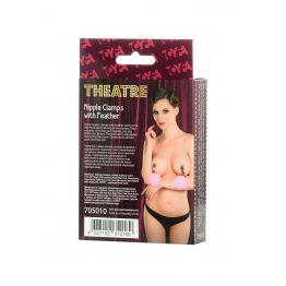 Зажимы для сосков TOYFA Theatre ,с пухом 705010