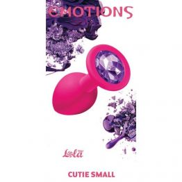 Анальная пробка Emotions Cutie Small Pink dark purple crystal 4011-01Lola