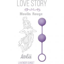 Вагинальные шарики Love Story Moulin Rouge purple 3009-04Lola