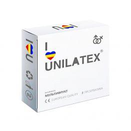 ПРЕЗЕРВАТИВЫ UNILATEX MULTIFRUITS цветные ароматизированные, 3 шт., арт. 3003