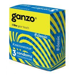 ПРЕЗЕРВАТИВЫ GANZO CLASSIC №3 (классические с обильной смазкой)