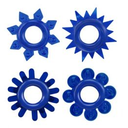КОЛЬЦО ЭРЕКЦИОННОЕ набор 4 шт, цвет синий арт. CN-330358236