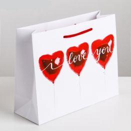 Пакет ламинированный горизонтальный Любовь повсюду, 18 × 23 × 8 см