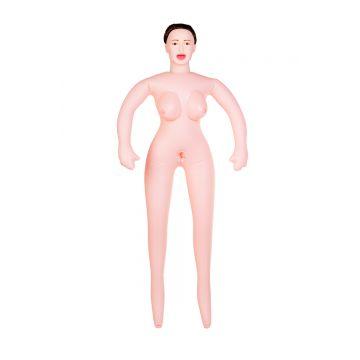 Кукла надувная Gabriella с реалистичной головой, брюнетка, TOYFA Dolls-X, с тремя отверстиями,  кибе