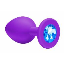 Анальная пробка Emotions Cutie Small Purple light blue crystal 4011-03Lola