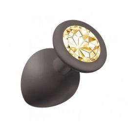 Анальная пробка Emotions Cutie Large Black  golden crystal 4013-07Lola