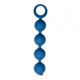 Анальная цепочка Appulse, силикон, 2,5 x 13 см , цвет кобальт (One Size)
